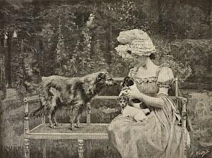 Dessin d'après une peinture de Henry Tenre, 1890 © De Agostini, Getty