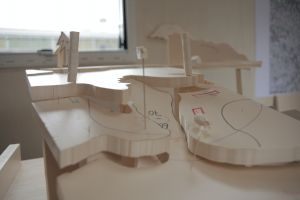 <p>Projet du pavillon suisse, travail en cours - Altenrhein - novembre 2019 © Équipe de la biennale d'architecture de Venise 2020</p>