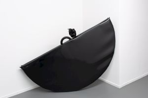<p>Dorian Sari La Parade de l'aveuglement, Centre culturel suisse. Paris, 2020. Vue de l'exposition par Margot Montigny. Untitled, 2020</p>