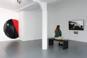 <p>Dorian Sari La Parade de l'aveuglement, Centre culturel suisse. Paris, 2020. Vue de l'exposition par Margot Montigny</p>