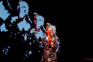 <p>Julie Gilbert et Jérôme Richer Je ne suis pas la fille de Nina Simone, Centre culturel suisse, 2019 © Margot Montigny / CCS</p>