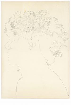 <p>Doris Stauffer Sans Titre, Autoportrait, 1975 © Schweizerische Nationalbibliothek, Graphische Sammlung: Archiv Serge und Doris Stauffer</p>