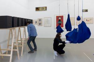 <p>Vue de l'exposition DORIS STAUFFER, Je peux faire dispaître un lion © Margot Montigny / CCS</p>