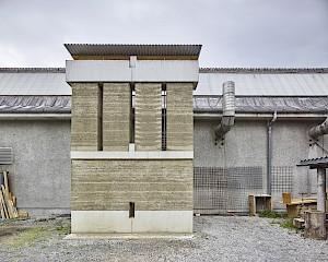 Roger Boltshauser Mock-up Sitterwerk St. Gallen © Philip Heckhausen