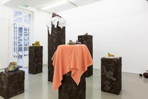 <p>A curbing wall of debris / Nesting, Pedro Wirz, Centre culturel suisse, février 2019 ©margotmontigny</p>
