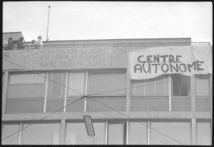 <p>Occupation de la maison des jeunes, 16.5.1971, CIG, Fonds Mick Desarzens</p>