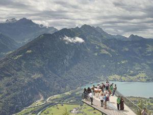 <p>Harder Kulm – Two Lakes Bridge, Interlaken, Switzerland, 2016 / © Simon Roberts</p>