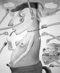 <p>Sabian Bauman, Gezeichnet, aus der Serie Interpretationen, 2015</p> — © Centre culturel suisse. Paris