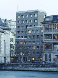 <p>Immeuble de logements pour étudiants au centre ville, Genève, 2011 / Photo D.R.</p>