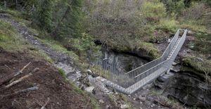 <p>Brücke am Pilzfelsen © Jürg Conzett / Photo: Wilfried Dechau</p>
