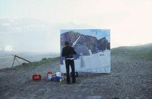 <p>Rémy Zaugg, sans titre (18.08.1988), peinture et vidéo © Aufdi Aufdermauer</p>