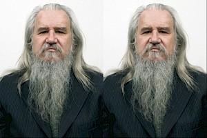 Pierre Denan, Olivier Mosset, 2008, photo Barry X Ball, 10 times — © Centre culturel suisse. Paris