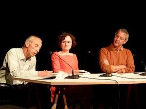 Pierre Bergounioux, Marie-Hélène Lafon et Jérôme Meizoz / Photo: D.R. — © Centre culturel suisse. Paris