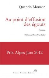 """<p>Couverture du livre """"Au point d'effusion des égouts"""" / D.R.</p>"""