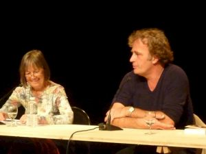 <p>Isabelle Rüf et Alex Capus / Photo: CCS</p>