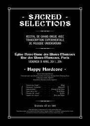 """Affiche du concert """"Sacred selections"""" de Matt Stokes — © Centre culturel suisse. Paris"""