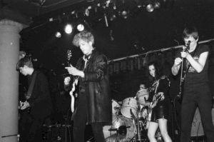 <p>Catherine Ceresole, Rhys Chatham, Thurston Moors, Jim Kroesen, Jonathan Kane Danceteria , New York, 14.04.1982</p>