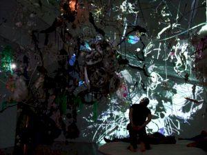<p>Cosmic Incubadora (installation totale) (détail) / Photo: Gerda Steiner & Jörg Lenzlinger</p>