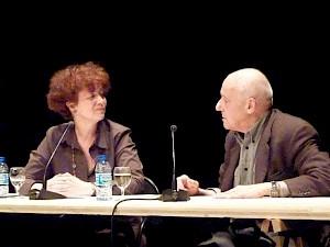 <p>Photo du grand entretien, Martine Béguin et Jean-Christophe Ammann / Photo: CCS</p>