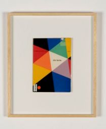 <p>Die Farbe, catalogue de l'exposition de 1944, couverture conçue par Max Bill</p>
