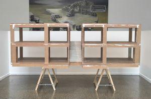 <p>Carte blanche à Fischli / Weiss, vue d'exposition (Jason Klimatsas et Andreas Dobler) / Photo: Marc Domage</p>