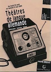 Théâtres de langue allemande, 2001, Affiche. — © Centre culturel suisse. Paris