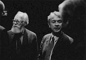 François Nourissier et Antoine Gallimard lors de la conversation publique du 11 mai / Photo: Olivier Meylan — © Centre culturel suisse. Paris