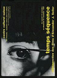 """""""Temps séquence"""" / Couverture du programme détaillé de l'événement — © Centre culturel suisse. Paris"""