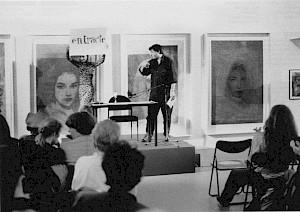 """""""Nizon la nuit"""", lecture de textes de Paul Nizon par Jean-Quentin Châtelain dans l'exposition de Roger Pfund / Photo: D.R. — © Centre culturel suisse. Paris"""