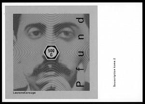 """<p>Carton de souscription à l'ouvrage """"Pfund tome 2"""" (recto) / Roger Pfund</p>"""