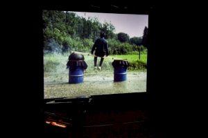 """<p>Roman Signer, """"Restenfilme 1975-1989"""", projection au CCS lors de """"Performance Process"""", 2015 / Photo: Simon Letellier</p>"""