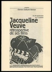 Couverture de la brochure consacrée à la rétrospective de Jacqueline Veuve — © Centre culturel suisse. Paris