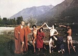 La troupe des des danseurs de Rudolf von Laban (à gauche sur la photo) / Photo: Johann Adam Meisenbach (carton de l'événement) — © Centre culturel suisse. Paris
