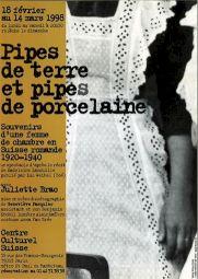 """<p>""""Pipes de terre et pipes de porcelaine"""" / Carton de l'événement</p>"""