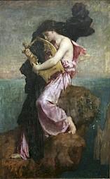 """Jules Elie Delaunay (1828-1891), """"Sappho embrassant sa lyre"""" — © Centre culturel suisse. Paris"""