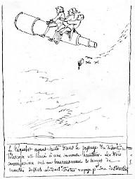 Rodolphe Töpffer / Illustration de la couverture de la brochure de janvier-février 1997 — © Centre culturel suisse. Paris