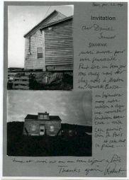 <p>Lettre de remerciements adressée à Daniel Jeannet  de la part de Robert Frank</p>