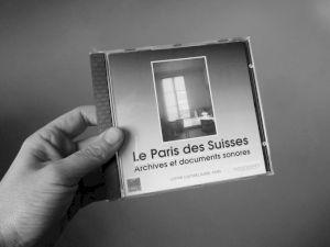 """<p>""""Le Paris des Suisses"""", jaquette du CD  / Recto</p>"""