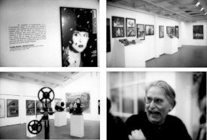 """<p>""""Les recoins de la cinémathèque"""" (vues de l'exposition et Freddy Buache lors du vernissage) / Photo: Olivier Meylan</p>"""