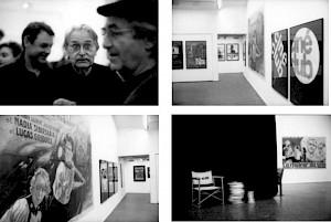 Daniel Jeannet, Freddy Buache et René Burri lors du vernissage et vues d'exposition / Photo: Olivier Meylan — © Centre culturel suisse. Paris