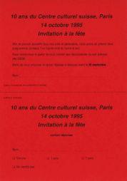 <p>Coupon réponse invitation</p>