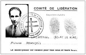 Laissez-passer délivré à François Lachenal en 1944 par les Forces Françaises — © Centre culturel suisse. Paris