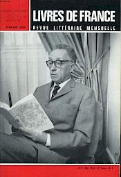 """Pierre-Henri Simon en couverture de """"Livres de France"""" (revue littéraire mensuelle) n°3, mars 1966 — © Centre culturel suisse. Paris"""