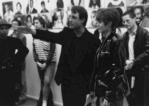 <p>Daniel Jeannet et Simone Oppliger au vernissage de l'exposition / Photo: Olivier Meylan</p>