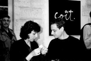 """<p>""""Une histoire de cul ture"""", vernissage (René Burri à gauche) / Photo: D.R.</p>"""