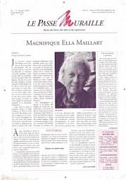Le Passe Muraille n°79, avec Ella Maillart en couverture — © Centre culturel suisse. Paris