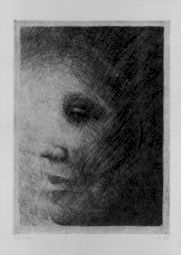"""<p>Markus Raetz, """"Profil III"""", 1982-83 / Carton de l'exposition / Cabinet des estampes de Genève</p>"""