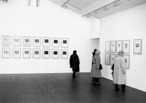<p>Vue de l'exposition (vernissage) / Photo: Olivier Meylan</p>