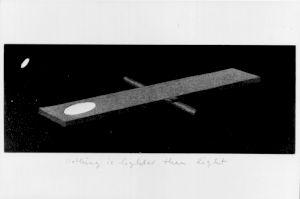 """<p>Markus Raetz, """"See-saw II"""" (balançoire II), 1991 / Cabinet des estampes de Genève</p>"""