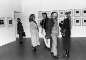 <p>Vernissage de l'exposition de Markus Raetz / Photo: Olivier Meylan</p>